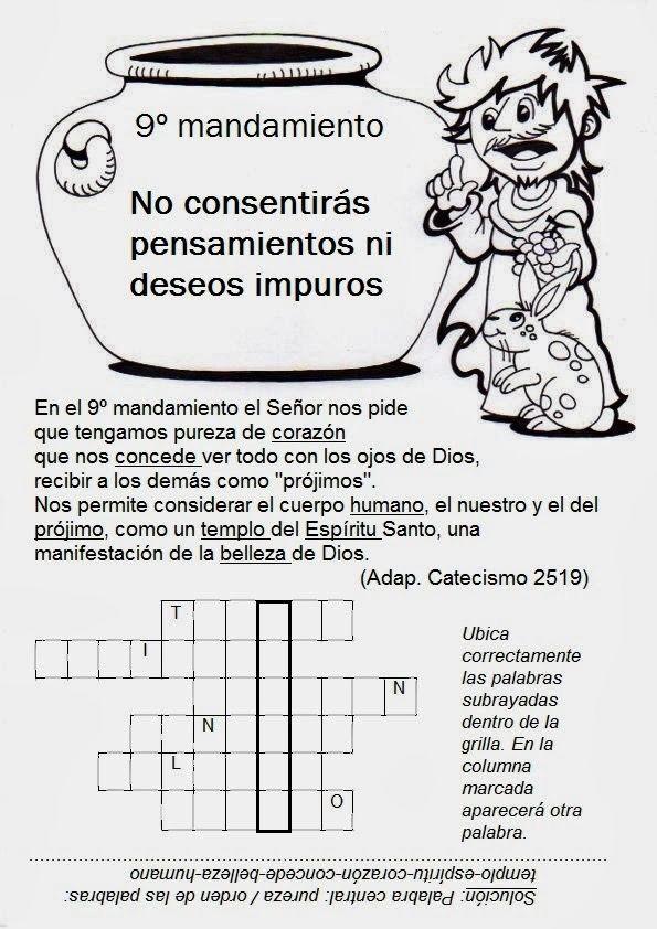 9no Mandamiento | Catecismo y Pequeñas Oraciones | Pinterest ...