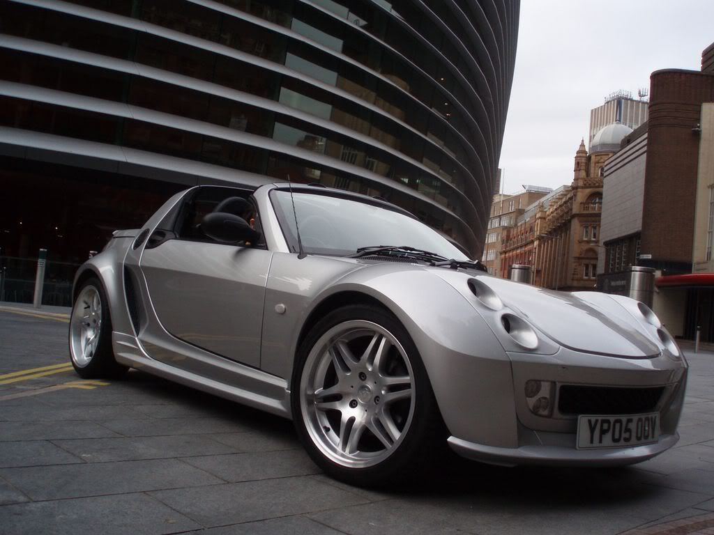 All silver smart roadster brabus