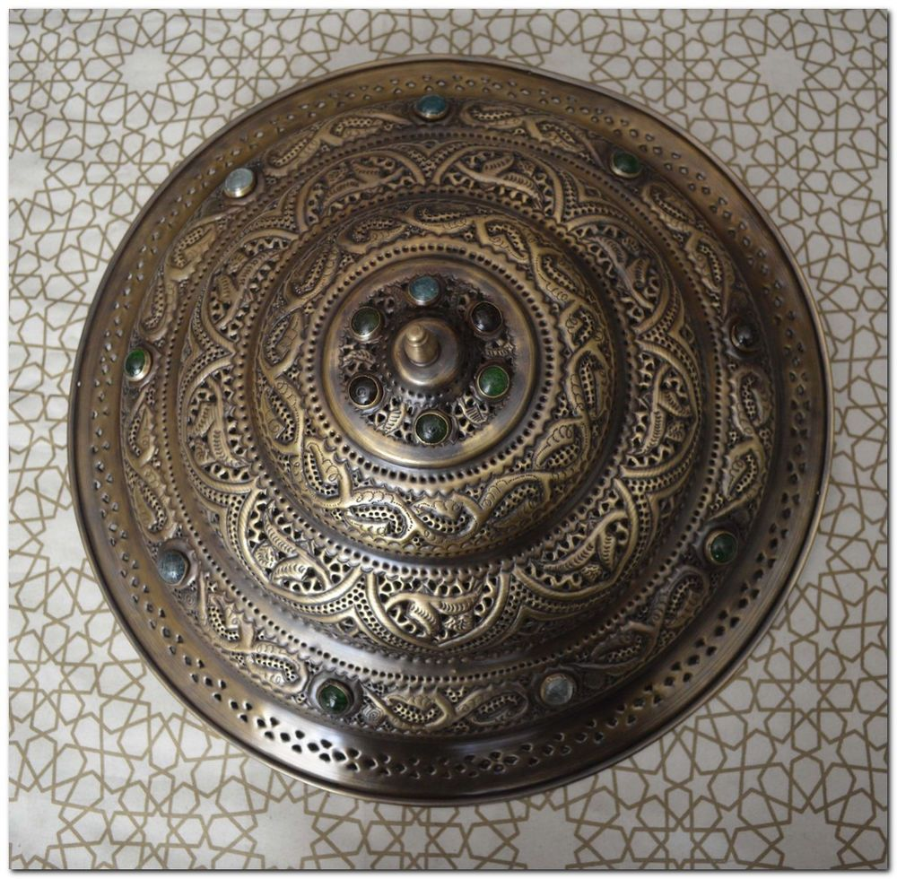 Handcrafted moroccan flush mount brass jeweled ceiling light fixture brass moroccan flush mount fixtures ebay ceiling fan chandelierceiling light arubaitofo Choice Image