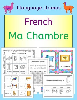 French Bedroom Vocabulary Ma Chambre Products Vocabulary