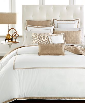 Hotel Collection Embroidered Frame Bedding Collection Created For Macy S Reviews Designer Bedding Bed Bath Macy S Macys Bedding Hotel Collection Bedding Luxury Bedding