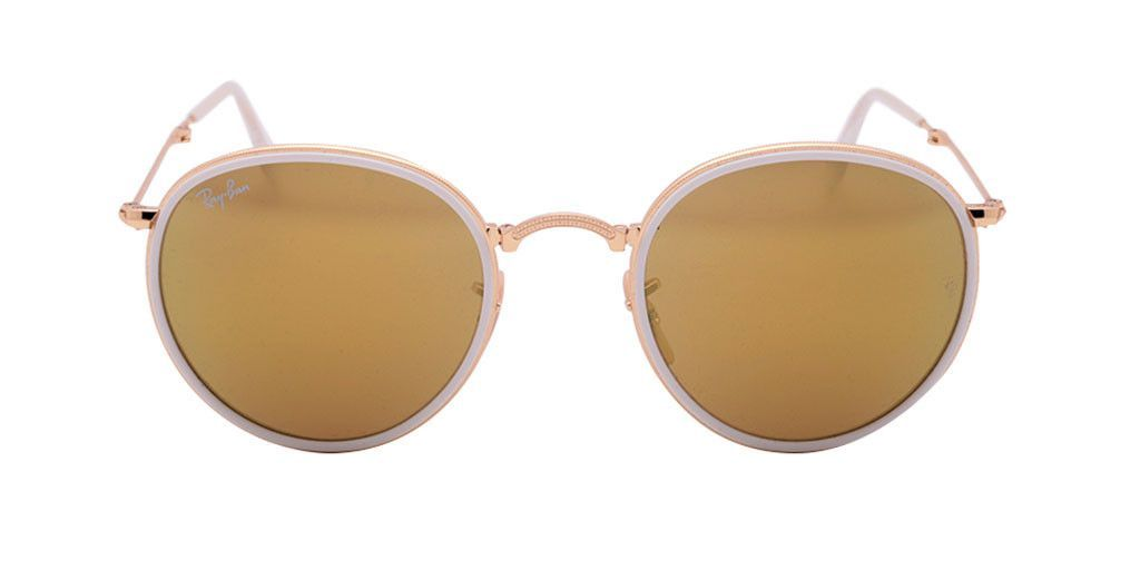 284349a103 RAY BAN ROUND FOLDING RB3517 001 93 51 Gold   Yellow Flash