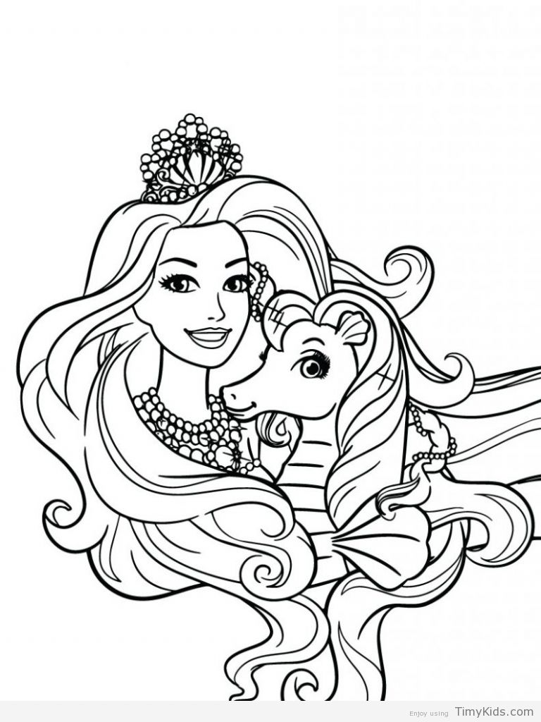 30 Princess Coloring Pages For Girls Barbie Coloring Pages