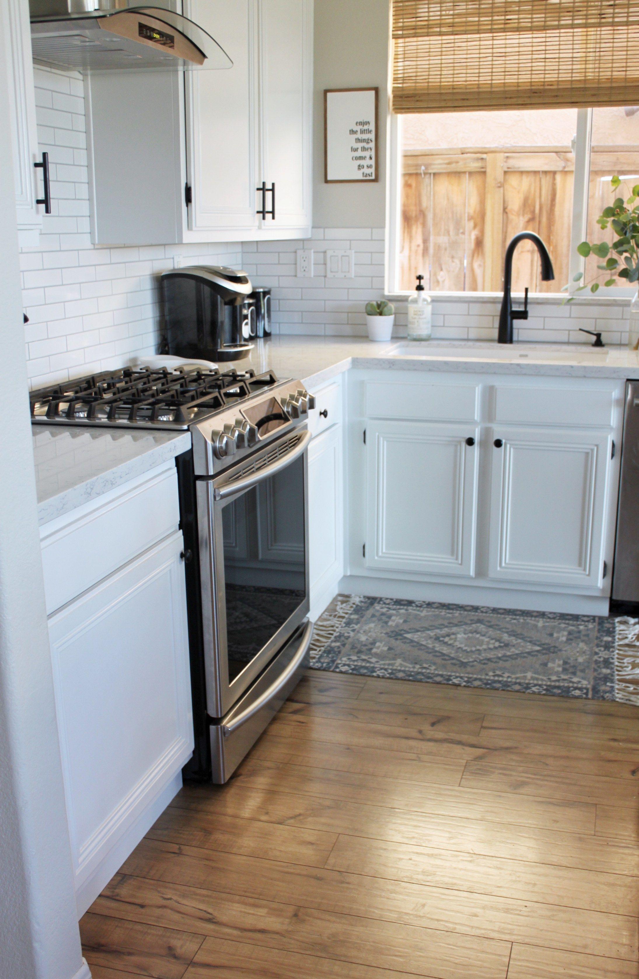 Diy Kitchen Update Cabinet Trim Tutorial Domestic Blonde Diy Kitchen Cabinet Trim Easy Kitchen Updates