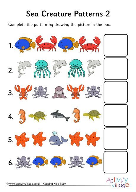 sea creature patterns 2 sea animals sea creatures pattern worksheet stuffed animal patterns. Black Bedroom Furniture Sets. Home Design Ideas