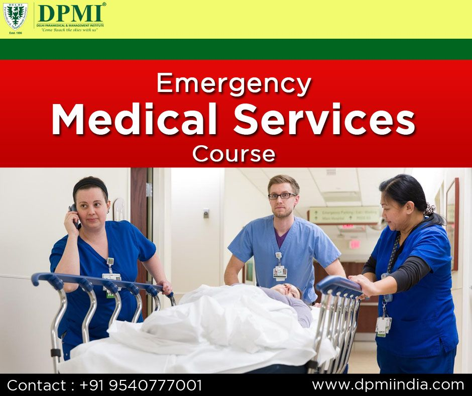 Emergency Medical Services Course Emergency Medical Medical Technology Emergency Medical Services