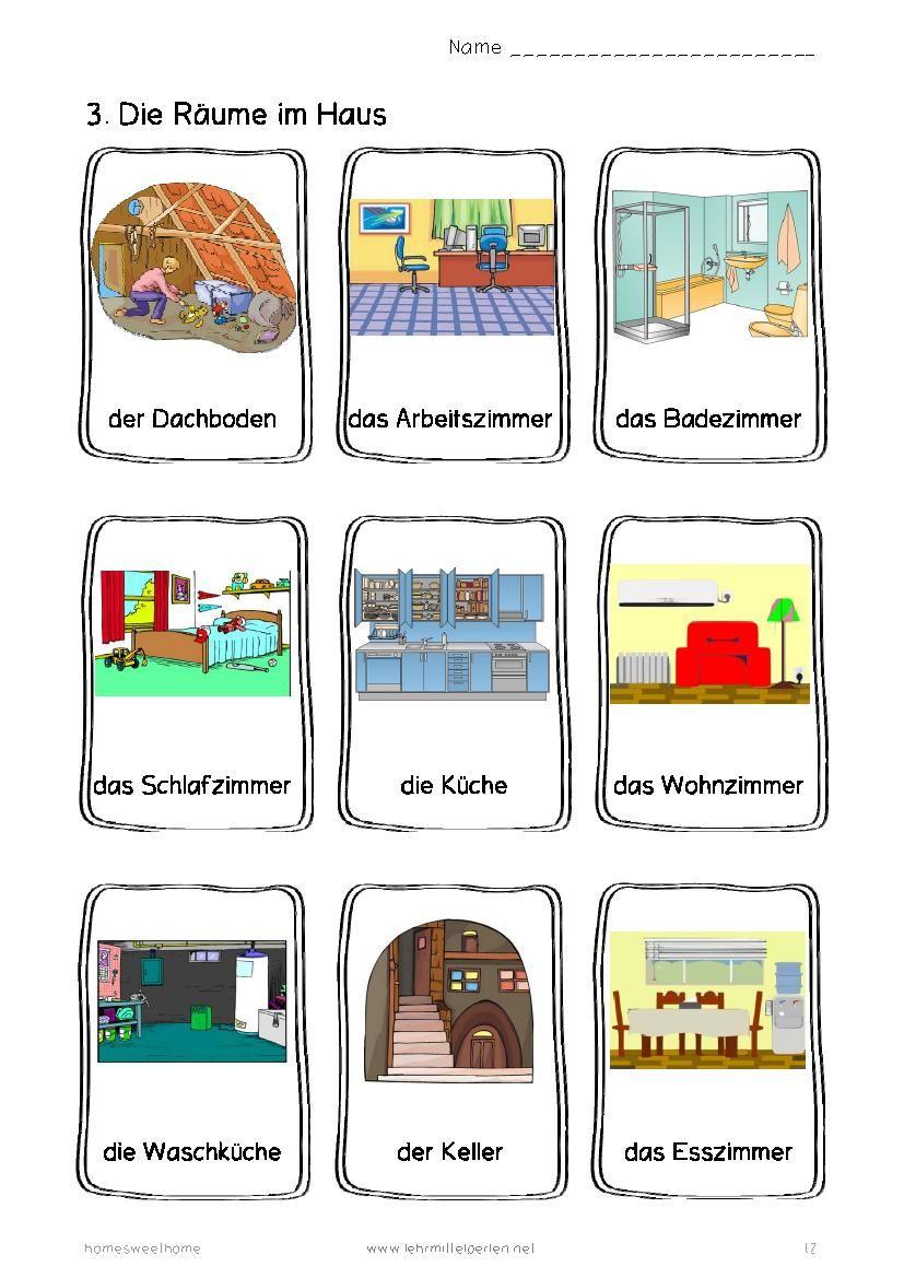 German Words Home Sweet Home Deutsch Lernen Lernen Und Deutsch