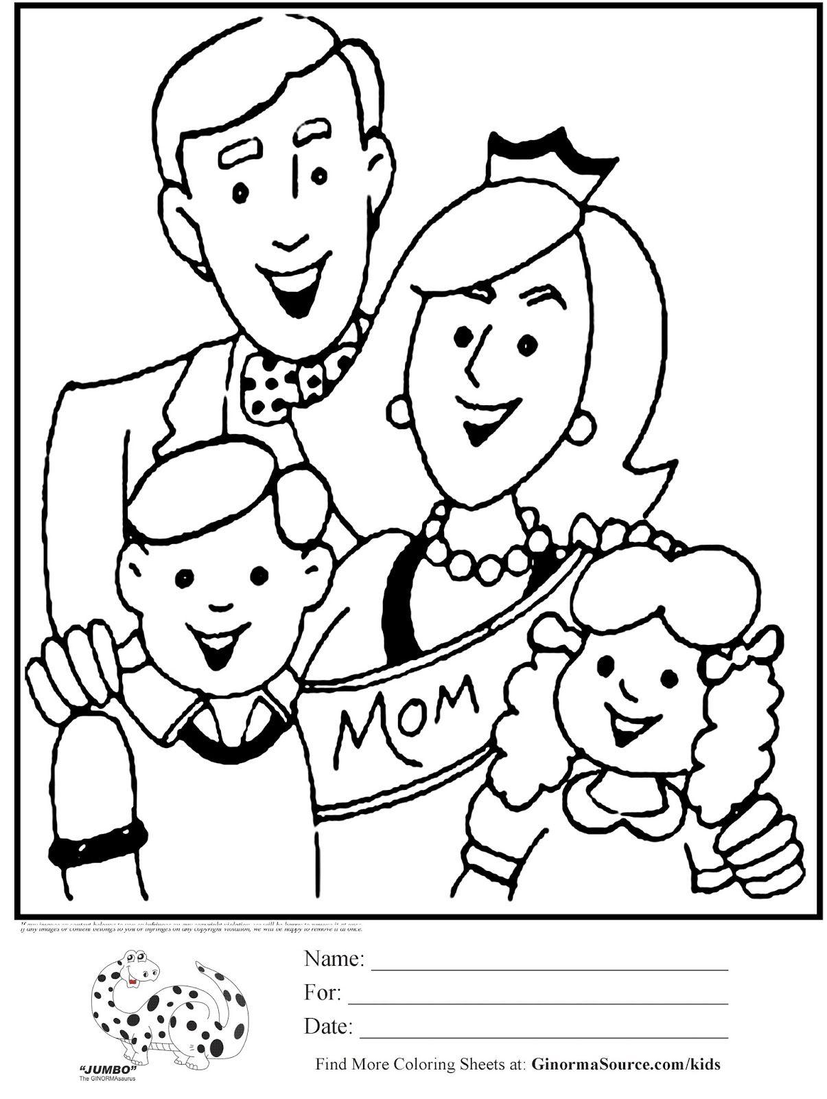 7 Mewarnai Gambar Mama Dan Papa Ausmalbilder Ausmalen Bilder