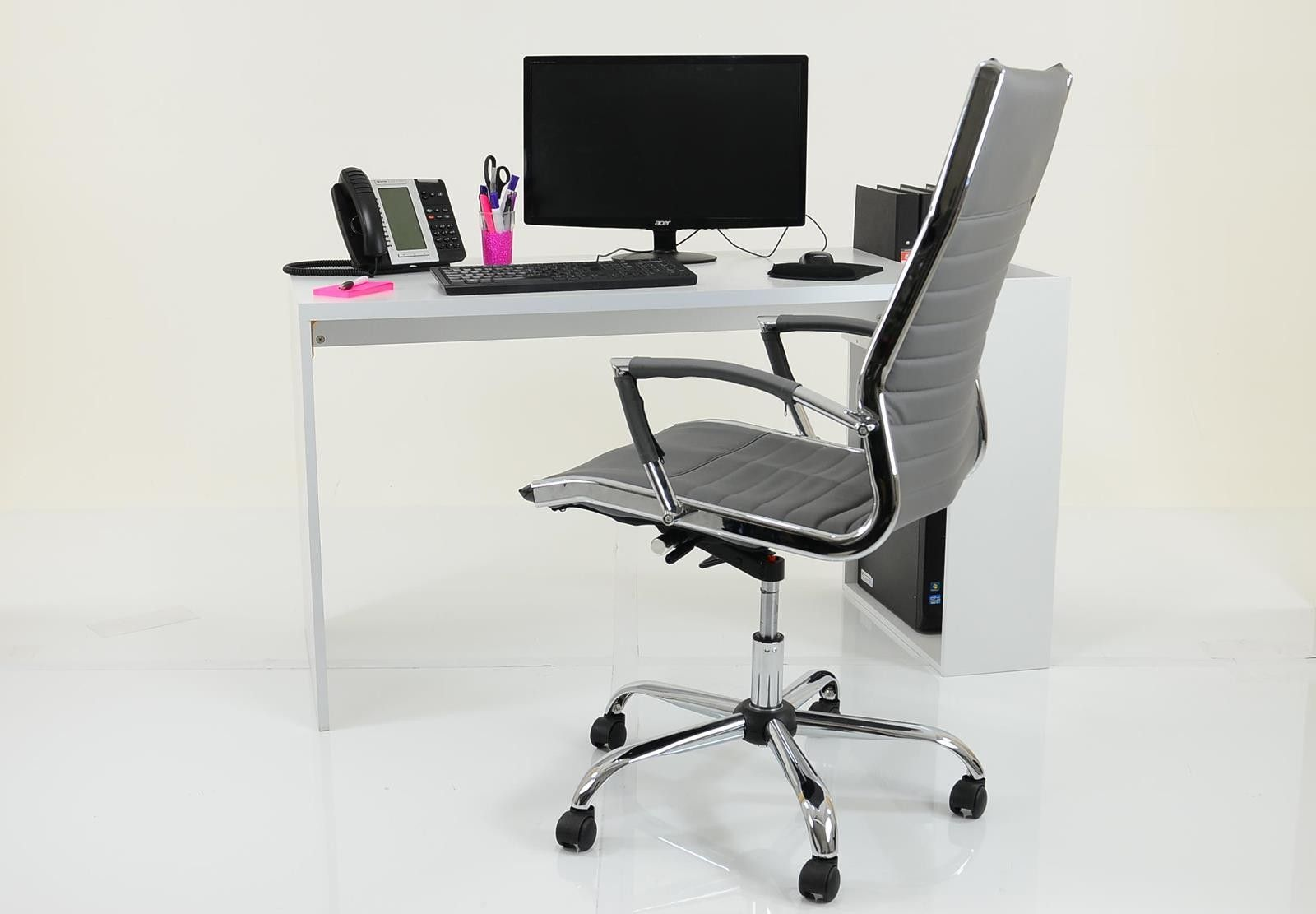 Harper contemporary home office computer desk white home office