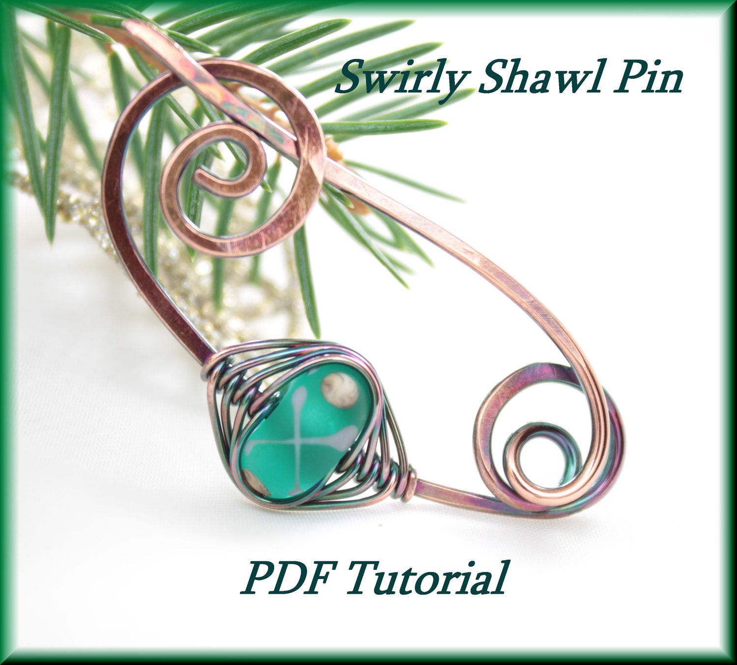 Items similar to Spiral Shawl Pin - PDF Tutorial - Wire Wrapped ...