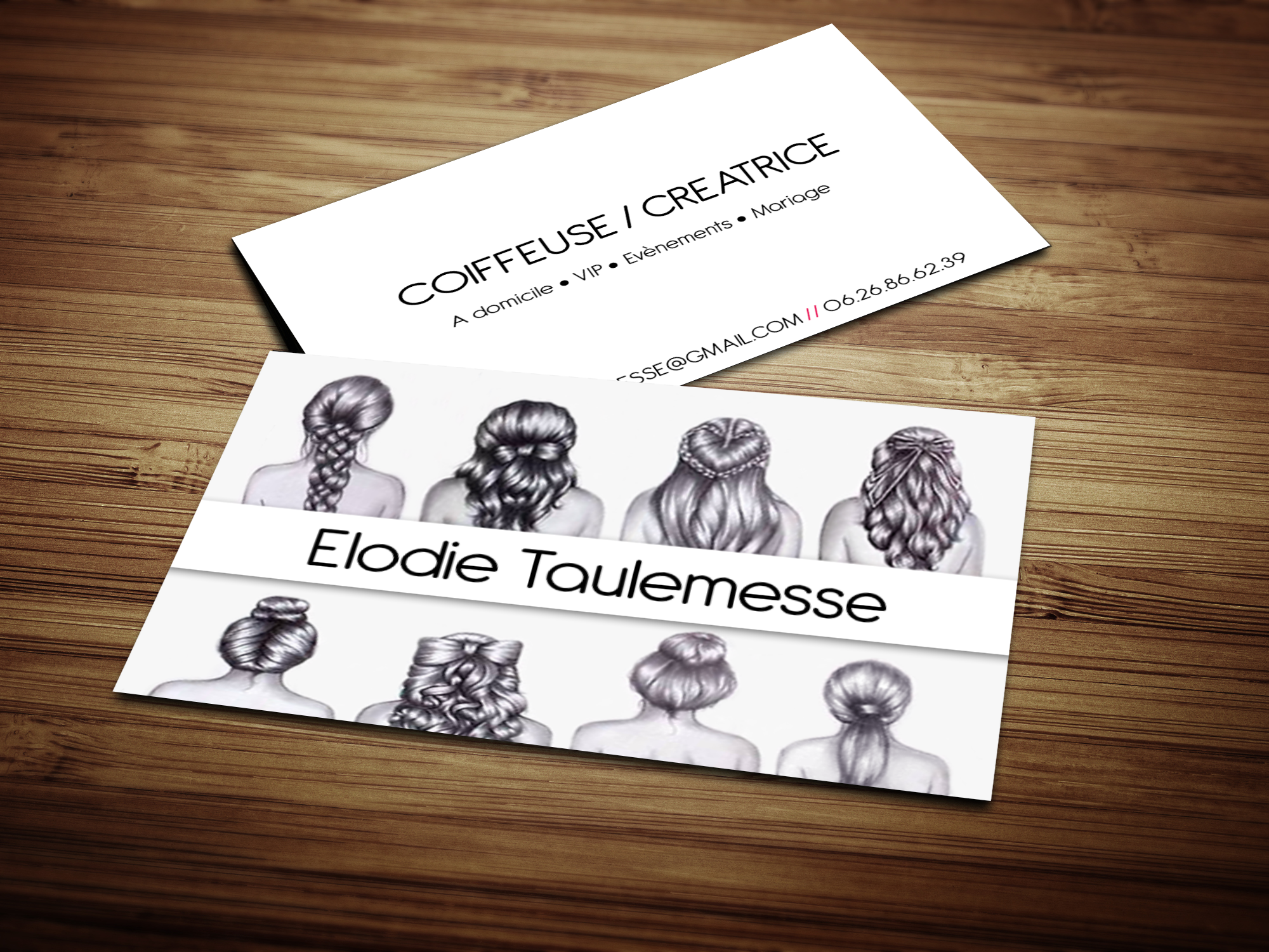 Carte De Visite Coiffeuse Domicile France Chezlecoiffeur