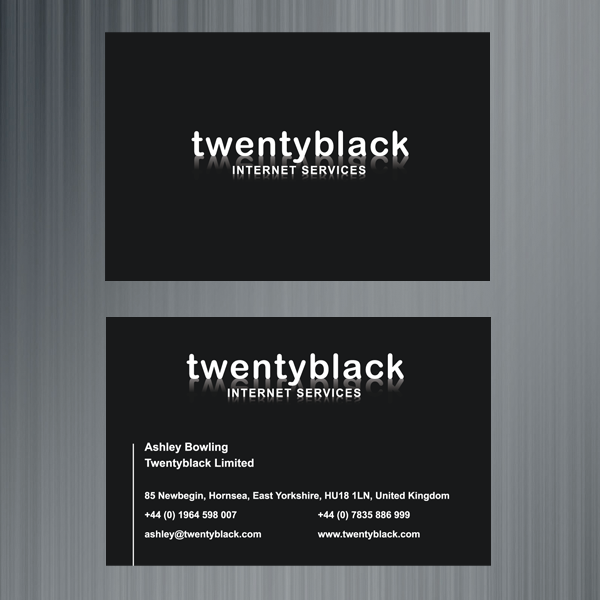 Twentyblack internet services business cards logo design twentyblack internet services business cards logo design reheart Gallery