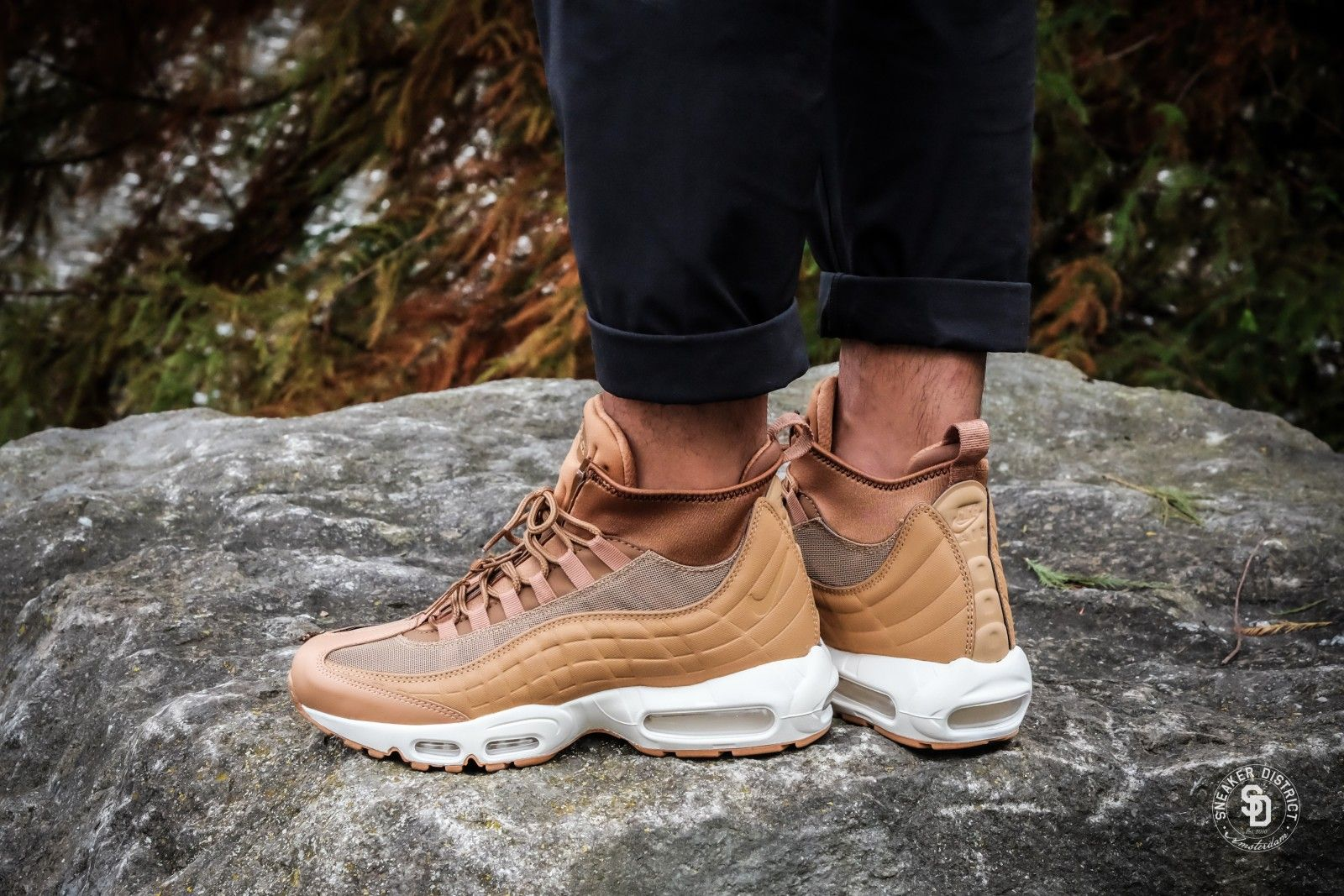 new styles a8c61 12754 Nike Air Max 95 Sneakerboot Flax Ale Brown Shoes ,The design that sticks to  the foot, dress more comfortable!