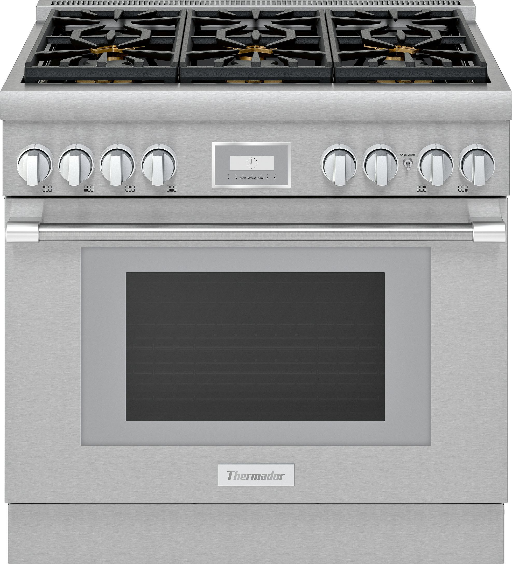 36 Inch Pro Harmony Standard Depth Gas Range Prg366wh Thermador Thermador Convection Range Range Cooker