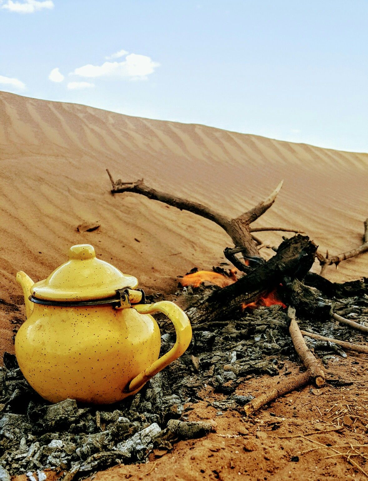 Traditional tea in the desert.