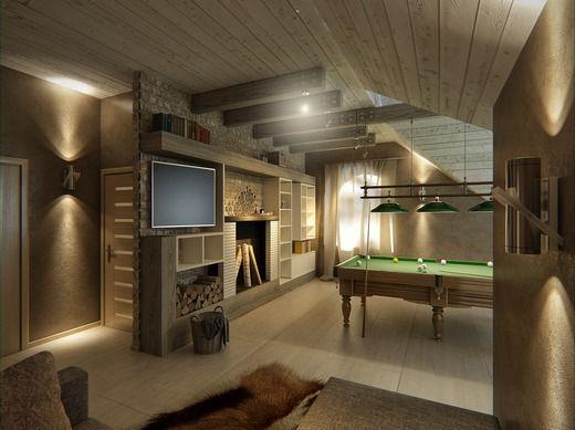 Гостевой банный дом Мансарда интерьер Pinterest Interiors