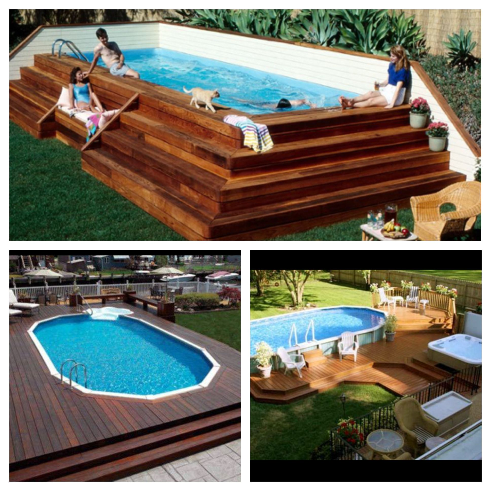 above ground pool decks future home in 2018 pinterest pool ideen garten und garten ideen. Black Bedroom Furniture Sets. Home Design Ideas