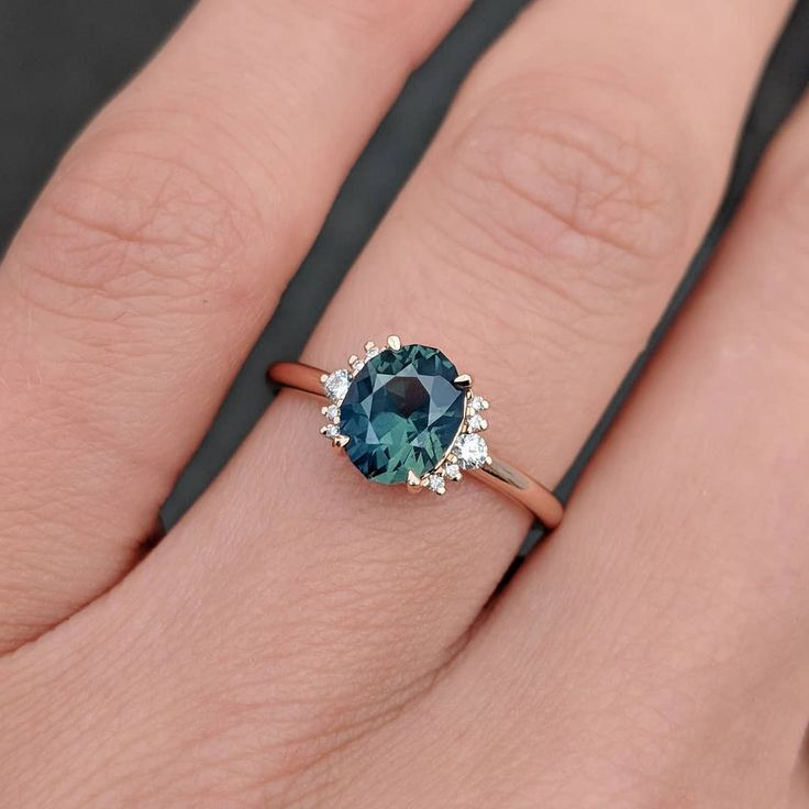 "Photo of Cushla Whiting on Instagram: ""We are in love with this recent bespoke ring we made for a customer featuring a very unique 1.77ct green/aqua sapphire, which we nicknamed…"""