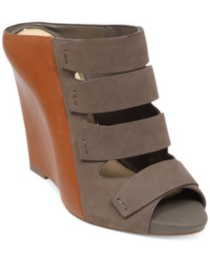 Jessica Simpson Marah Wedge Sandals Women's Shoes (886923496607) Two tones are always better than one. The Marah wedge sandals feature thick straps that stretch across the vamp.