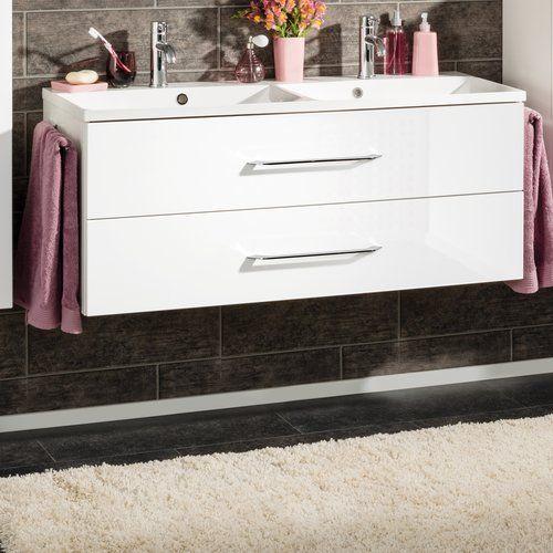 Fackelmann B Clever 120cm Double Basin Wall Mounted Vanity Unit Wall Mounted Vanity Basin Vanity Unit Double Basin Vanity Unit