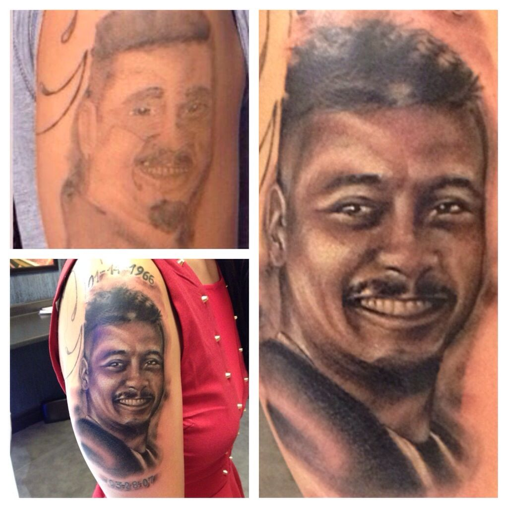 Portrait cover up by tommy helm this guy is the best for Tattoo nightmares tommy helm