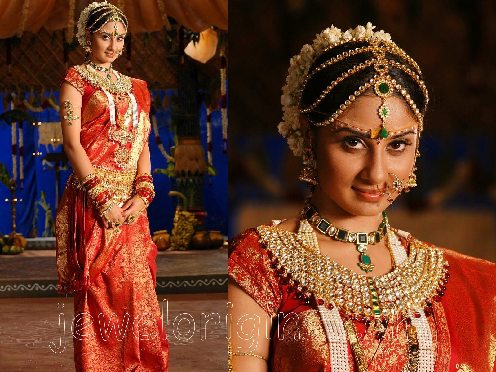 South Indian Bride #southindianbridaljewellery