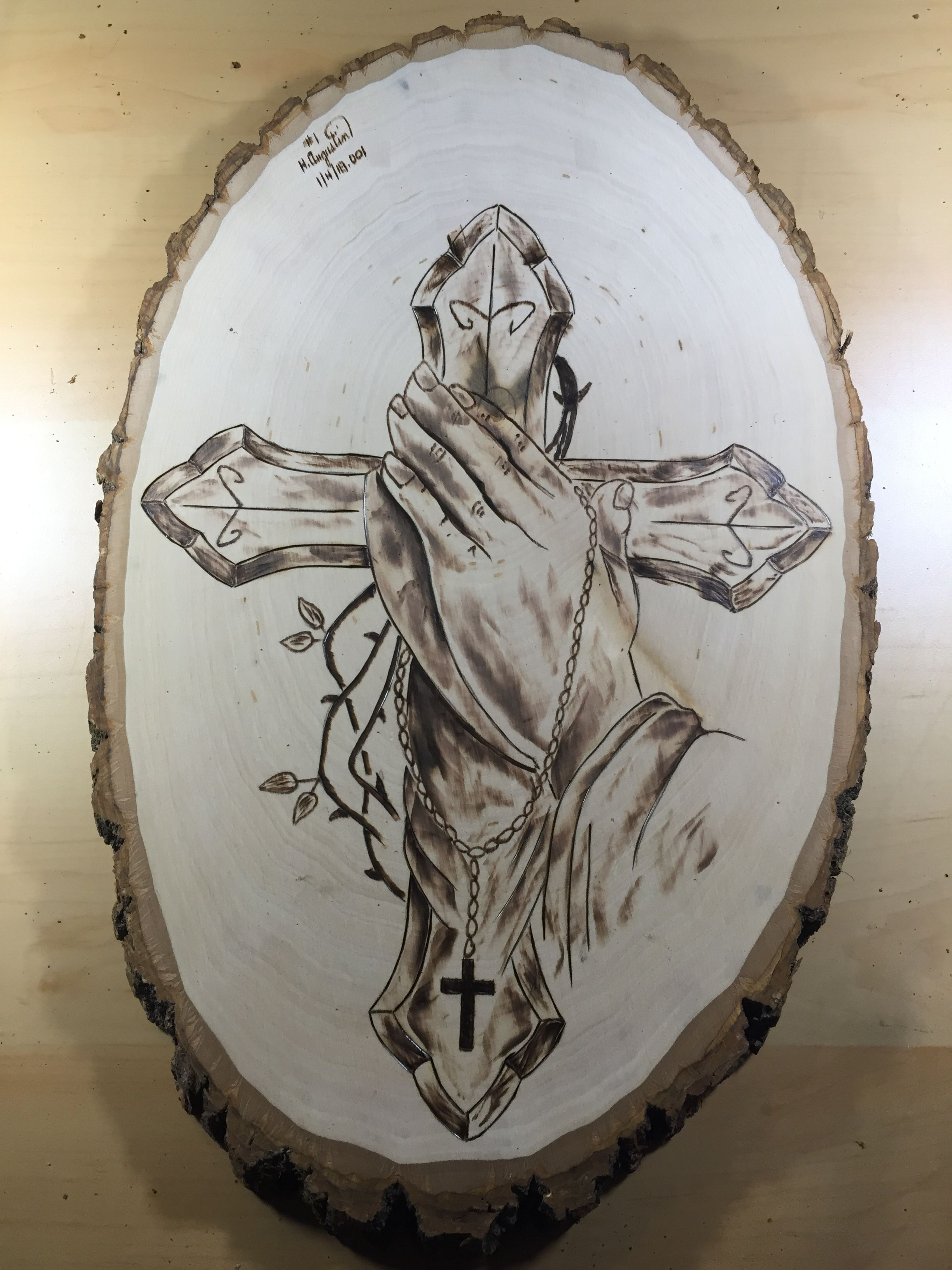 Praying Cross Hand Wood Burn Wood Burning Art Wood Burning Patterns Wood Burning Crafts