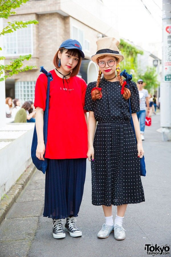 Resale fashion with Uniqlo pleated skirt, merry jenny shirt, Converse high tops…