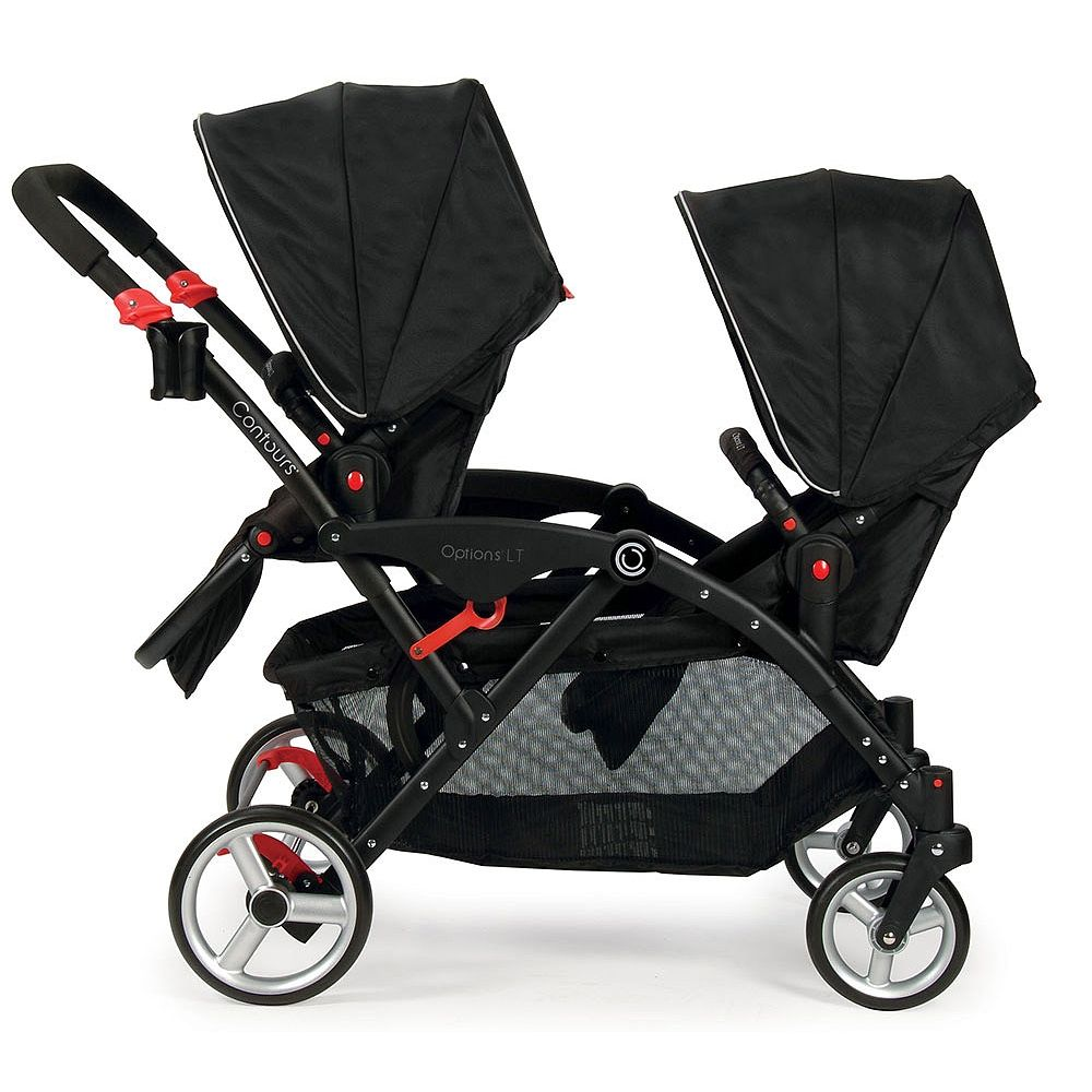 Contours Tandem stroller, Double stroller reviews, Baby