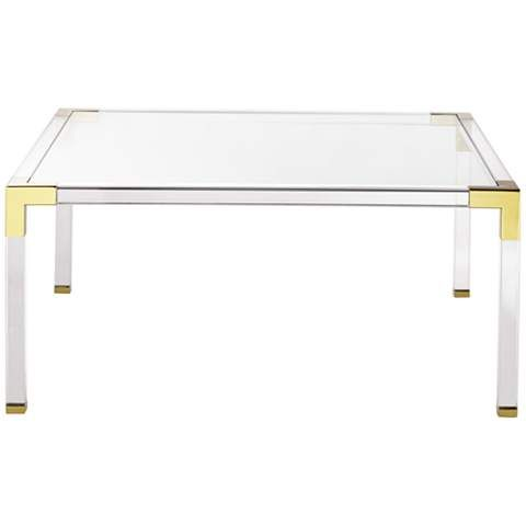 Hanna 40 Square Clear Acrylic Modern Coffee Table 1g405