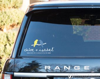 Chloe And Isabel Business Card Design Yellow And Blue Custom Vinyl Decal Down Syndrome Car Decals