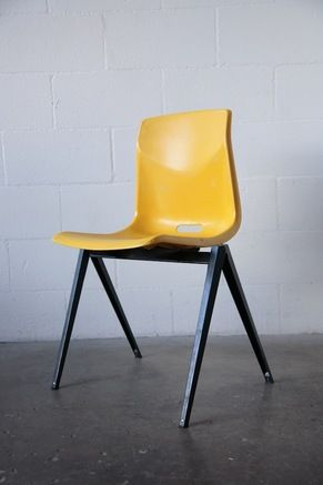 PROUVE OR FRISO KRAMER STYLE PLASTIC STACKING CHAIRS