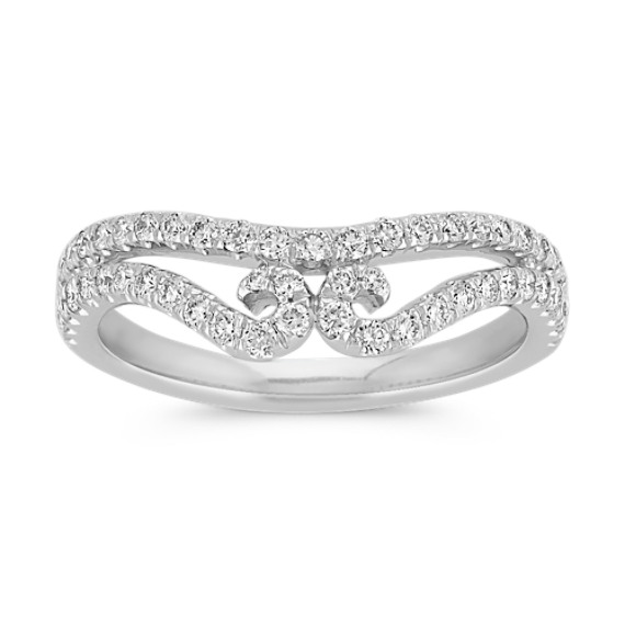 Tiara Round Diamond Contour Wedding Band Contour Wedding Band Wedding Bands Wedding Rings