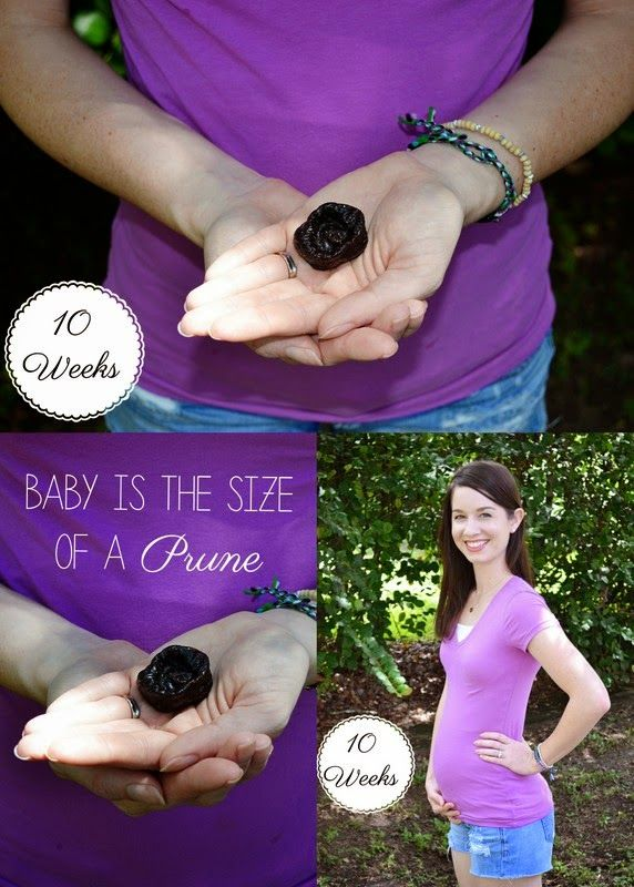 10 weeks pregnant & baby is the size of a prune | Baby | Baby, 10