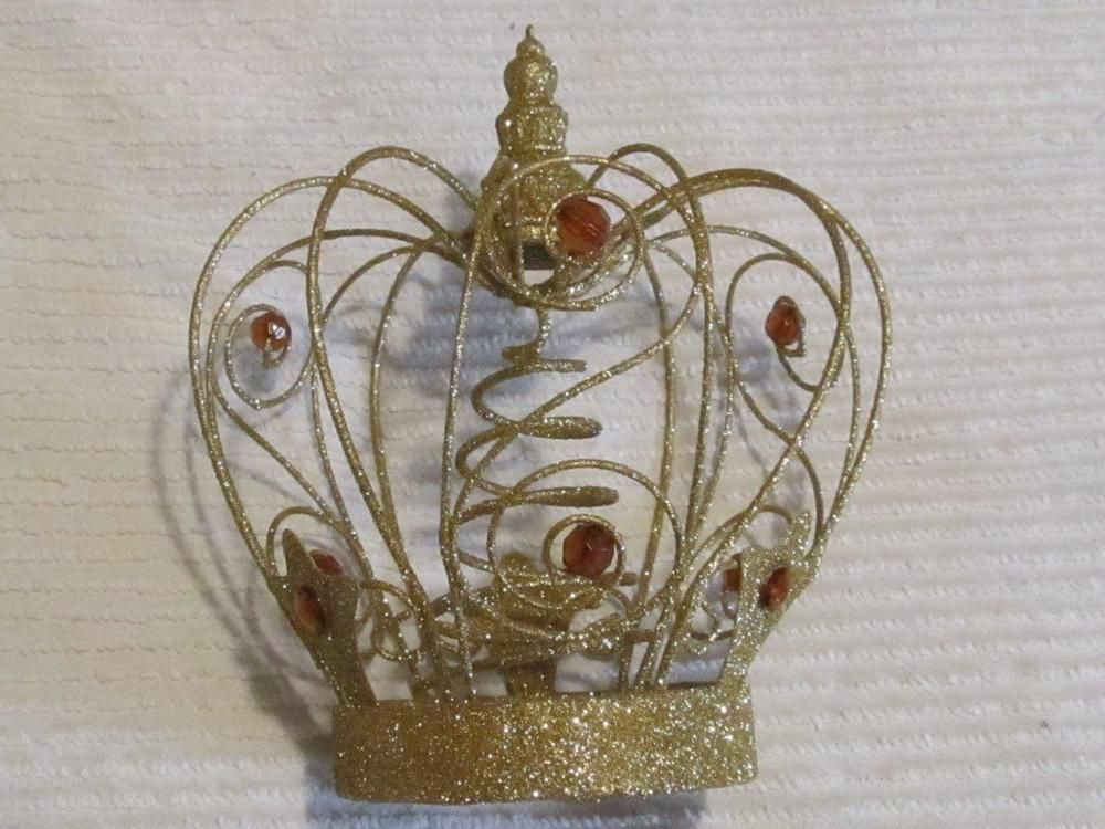Katherine S Gold Crystal Wire Crown Tree Topper Diy Tree