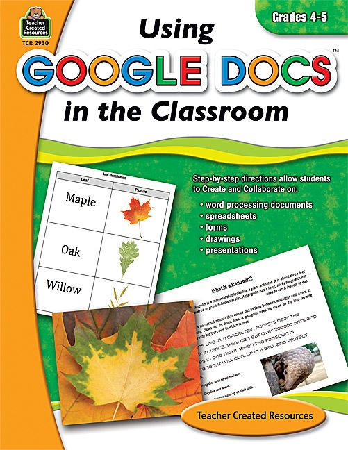 Using Google Docs in the Classroom Grade 4-5 Google docs