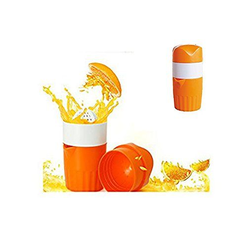 Pour Spout Perfect Juicer Mug for Kids TENTA KITCHEN Manual Juicer Fruit Lemon Lime Orange Squeezer 16.9 oz//500 ml Container
