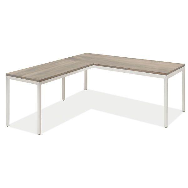Room & Board - Portica L-Shaped Desk 72w 30d 29h with 48w 24d Return