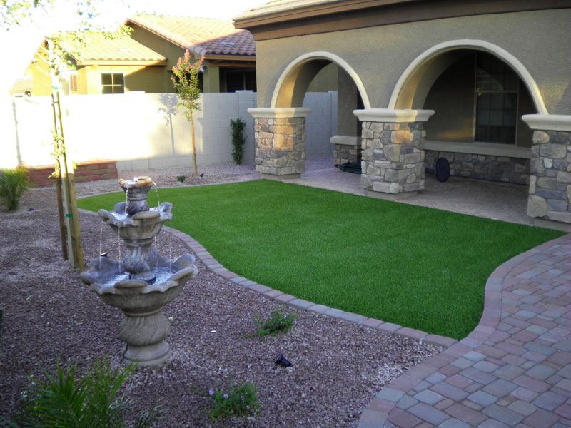 Desert landscape ideas with pool landscape ideas dream for Garden design ideas artificial grass