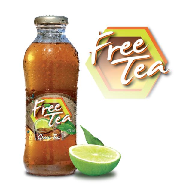 diseño de etiqueta para producto free tea de ajeper se desarrolló