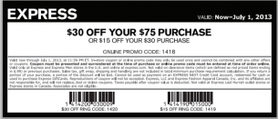 image about Express Coupons Printable 30 Off 75 named Choose comfort of Significant cost savings at Convey. Offer a such as if on your own