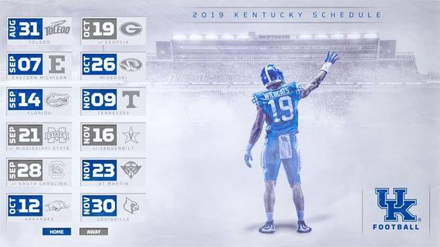 Kentucky Set for Home-Heavy 2019 | Kentucky football ...