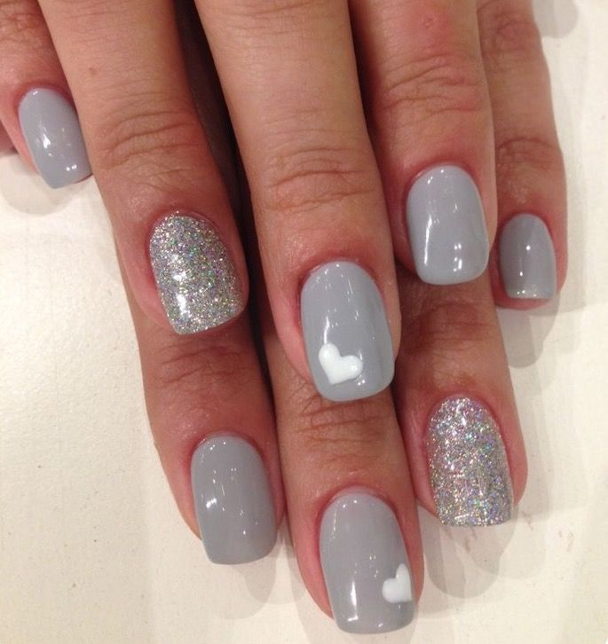 Grey the new black??? | Beautiful Nails | Pinterest | Nail inspo ...