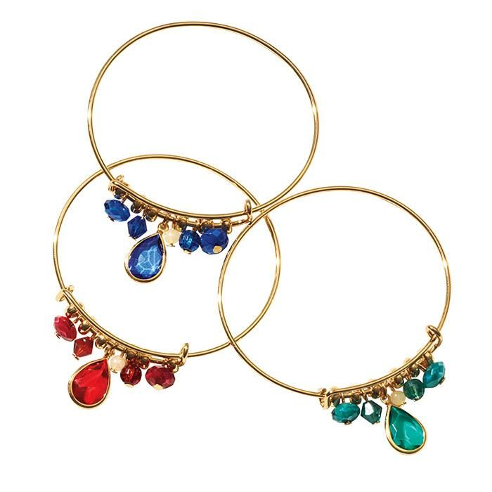 Accessorize with your birthstone in teardrop-shaped acrylic beads ...