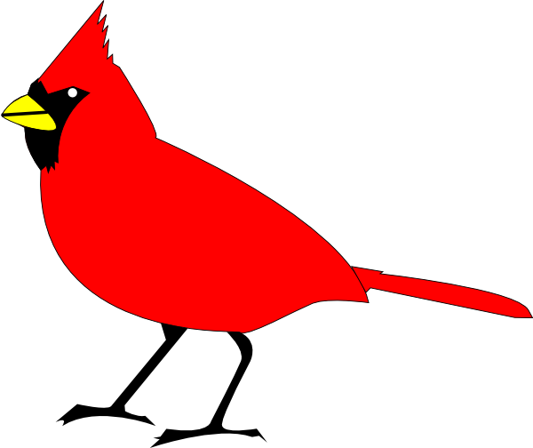 free clip art vector design of cardinal bird svg has been published rh pinterest com free clip art birds of prey free clip art birds singing