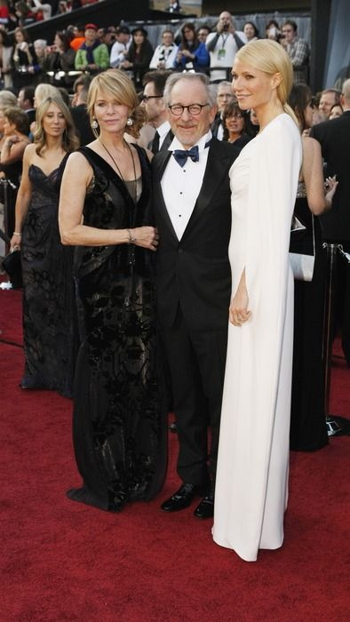 Kate Capshaw, Steven Spielberg, and Gwyneth Paltrow arrive at the 84th Academy Awards.