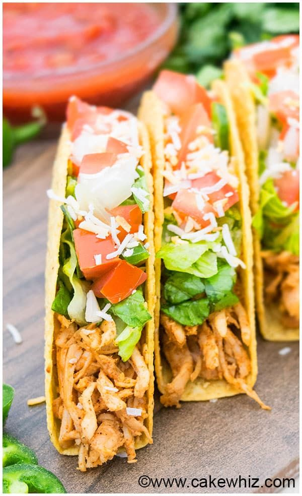 Shredded chicken tacos recipe 12 dinner ideas pinterest quick and easy shredded chicken tacos recipe that makes a simple 30 minute meal packed with mexican flavors and can be made on the stovetop or slow cooker forumfinder Image collections