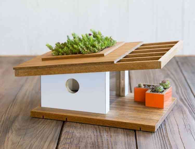Elegant Birdhouses Inspired By The Architecture Of Frank Lloyd Wright And The Bauhaus Mokki