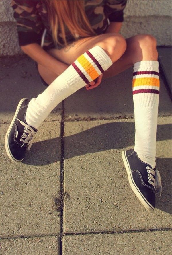 83a25c3c7 Red vans and knee high socks would be cool too