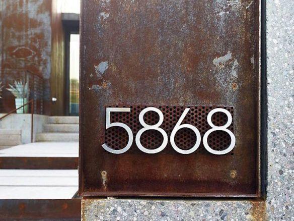 Neutra Modern House Numbers Metal House Numbers House Numbers